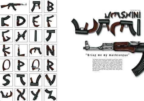 Letter Machine Gun Kelvino Ijusi Font Umshimi Wami
