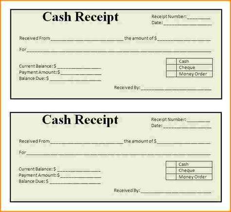 Written Receipt Template by 7 Written Receipt Template Restaurant Receipt