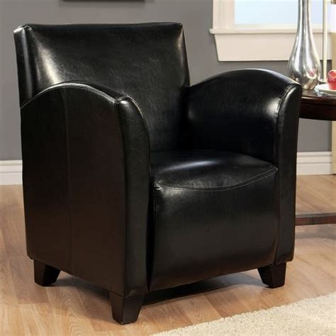 Black Armchairs by Marais Bicast Leather Armchair Black