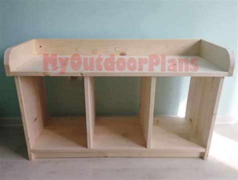 build  entryway bench  outdoor plans diy
