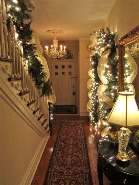 christmas staircase decorations ideas   year