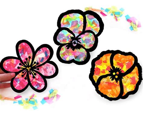 Arts And Crafts Tissue Paper Flowers - best 20 arts and crafts kits ideas on paper