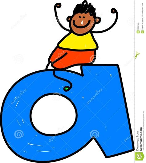 Letter For Boy Letter A Boy Stock Photo Image 3632580