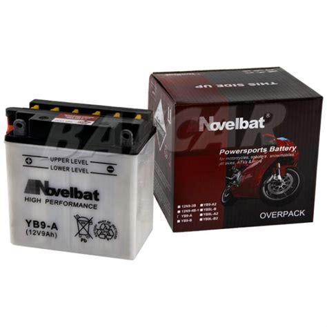 Motorrad Batterie Haltbarkeit by Novelbat Yb9 A 12v 9ah Batcar De Shop Motorradbatterie