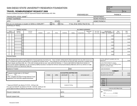 travel reimbursement form template it resume cover