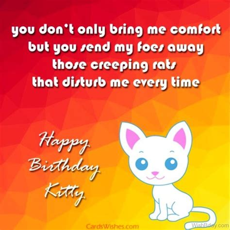 you comfort me 86 cat birthday wishes