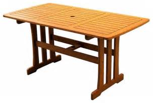 royal tahiti yellow balau wood rectangular dining table