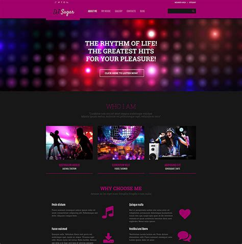 21 music blog themes templates free premium templates
