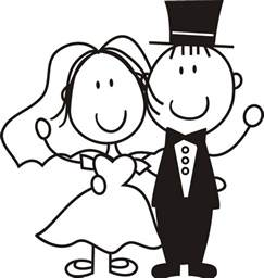 bride and groom clipart free download clip art free