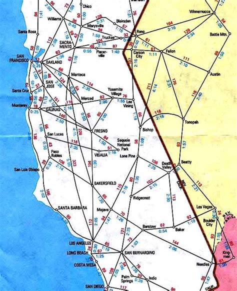 california map driving distances california