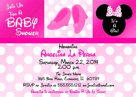 minnie mouse baby shower invitations templates how to make minnie mouse baby shower invitations baby