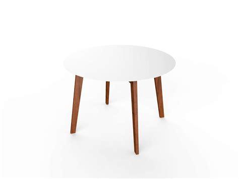 tavoli in corian tavolo rotondo in corian 174 e legno slim wood table 110 by