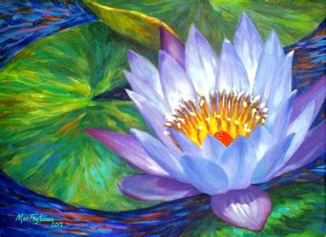 acrylic painting lotus flower lavender lotus flower painting by mon fagtanac