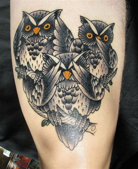 legacy tattoo three owls owls by samuli 1 legacy