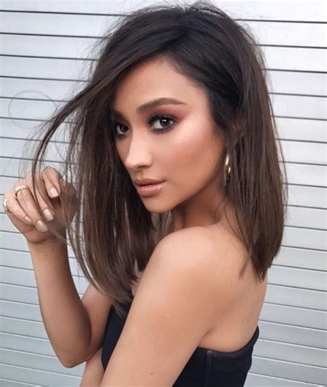 lob hairstyles instagram makeover alert shay mitchell just got a hot as hell