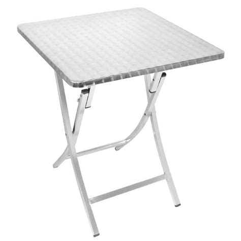 Aluminium Bistro Table Bolero Aluminium Folding Bistro Table Square 600mm 720x600x600mm Patio Ebay