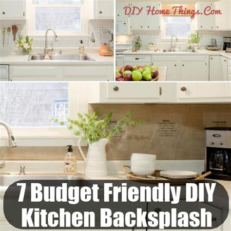 budget kitchen backsplash ideas affordable backsplash
