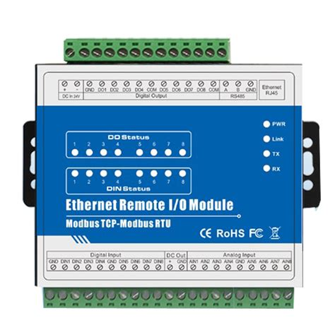 Modbus Tcp Ethernet Remote Io Module M160t Iot Rtu Module Modbus Tcp Ethernet Remote Io Module 8di