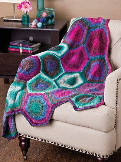 knit and crochet now season 4 free knit pattern this hexagon afghan