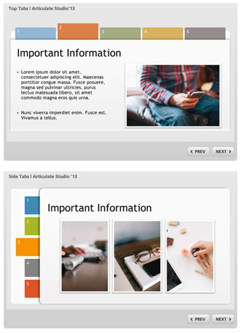 free powerpoint template tabs interaction the rapid e