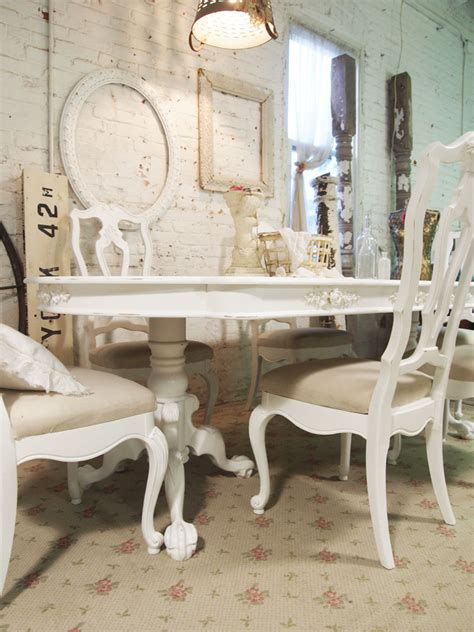 Chic Dining Room Chairs White Shabby Chic Dining Table Large And Beautiful Photos Photo To Select White Shabby Chic