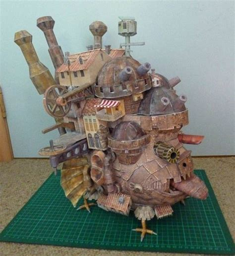 How To Make A Paper Mache Castle - howl s moving castle in papier mache geekery