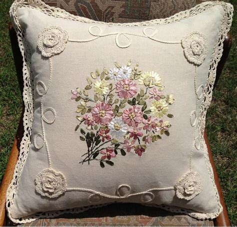 Time To Work Bantal 1865 best images about crewel embroidery ribbon on