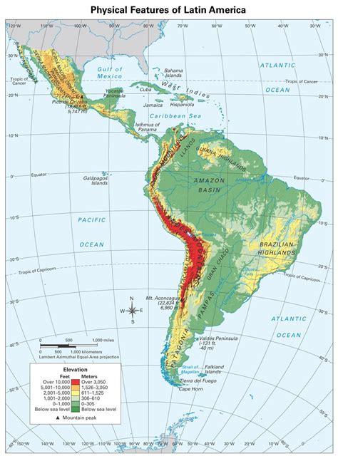 south america physical political map maps physical map of america