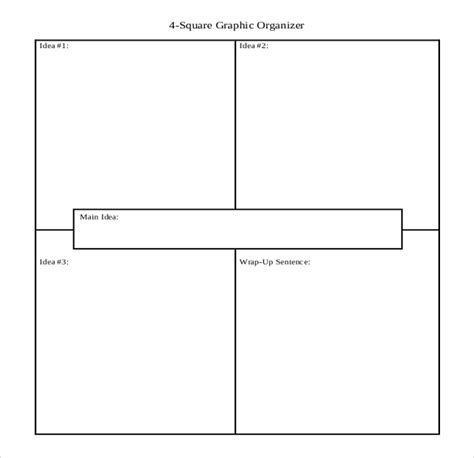 12 four square writing templates free sle exle