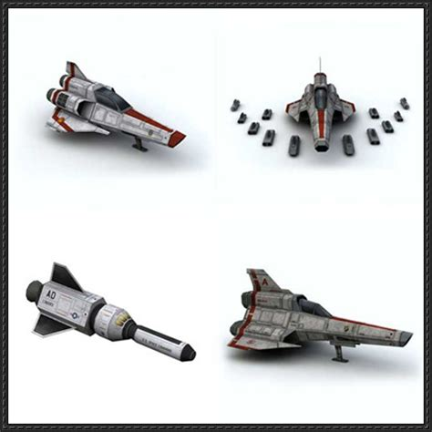 Sci Fi Papercraft - sci fi aircraft paper models for rpg free templates