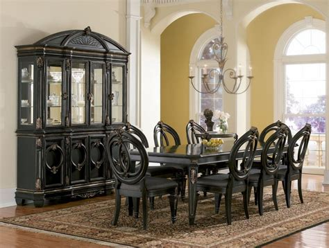 Black Dining Room Set All Black Dining Room Set Home Designer