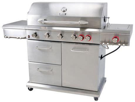 backyard grill 6 burner propane gas grill with side burner