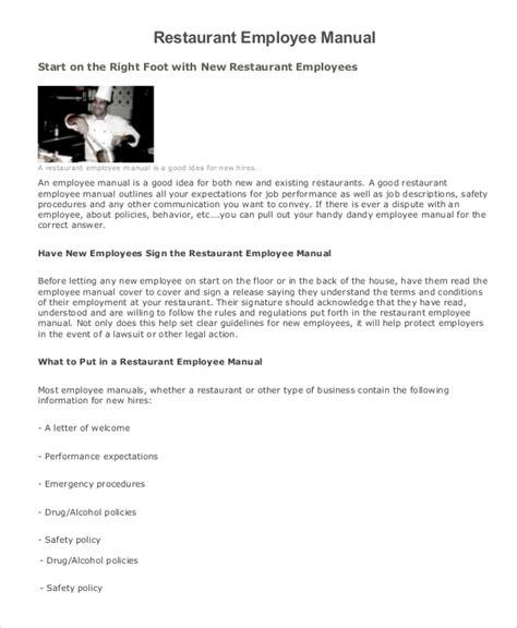 Employee Manual Sample 7 Documents In Word Pdf
