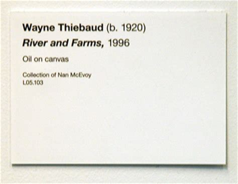wayne thiebaud rivers and farms de young museum labe