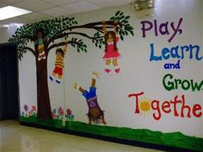 Wall Murals For Schools My Mural On Entrance Wall Of K 2 School Photo Fwall3 Jpg