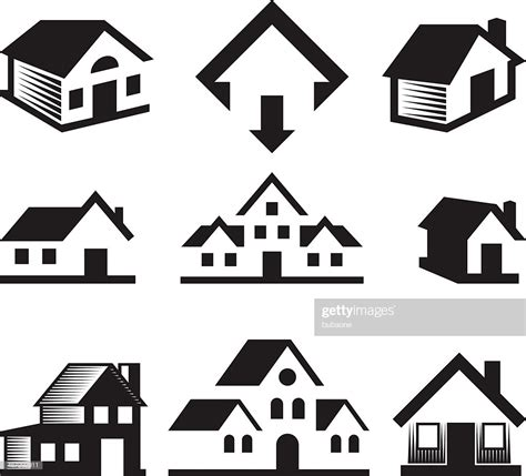 clipart estate house and real estate black white royaltyfree vector arts