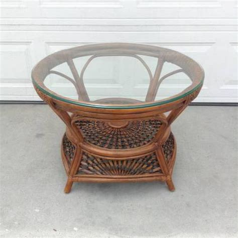 Pier 1 Coffee Table Tropical Pier 1 Coffee Table W Glass Top Loveseat Vintage Furniture San Diego