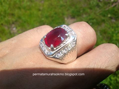 Batu Ruby Top by Permata Murah Sokmo Cincin Permata Top Blood Ruby