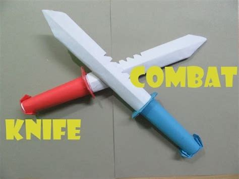 how to make a paper combat knife easy tutorials