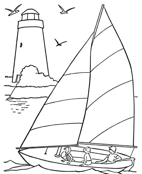Sailboat Printable Coloring Pages Coloring Part 2 Boat Colouring Pages