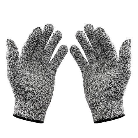Cut Resistant Gloves Anti Cutting Food Grade Level 5 Kitchen Butcher P wislife cut resistant gloves level 5 protection goodwill outlet store locator