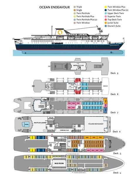 Day Spa Floor Plans by Ocean Endeavour Quark Expeditions