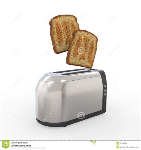 Bread Toasters Toast Popping Out Of A Toaster Stock Illustration