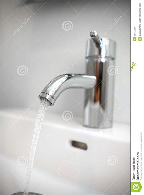 tap valve faucet with running water royalty free stock