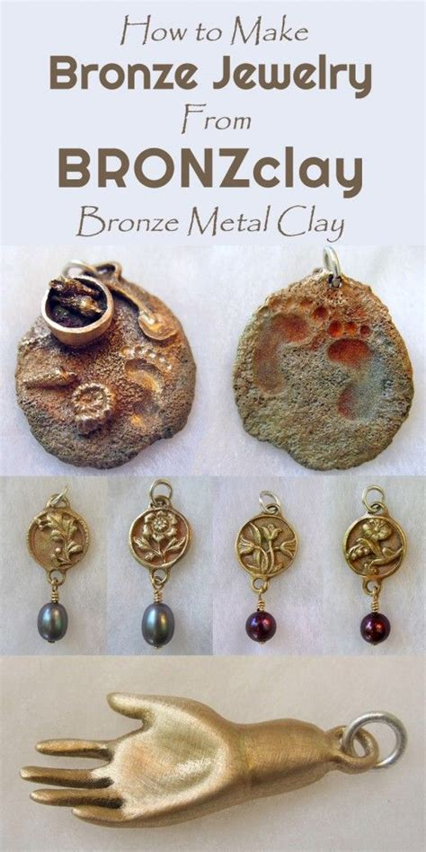 how to make jewelry with clay bronzclay techniques for bronze jewelry and