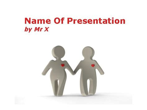 powerpoint templates love and friendship love between two figurines powerpoint template