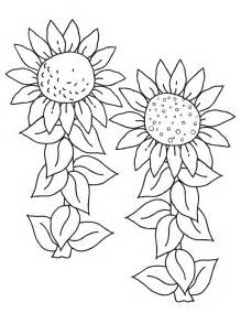 sunflower coloring pages free printable sunflower coloring pages for