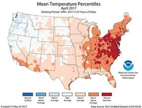 us weather map for april assessing the u s climate in april 2017 national centers for environmental information ncei