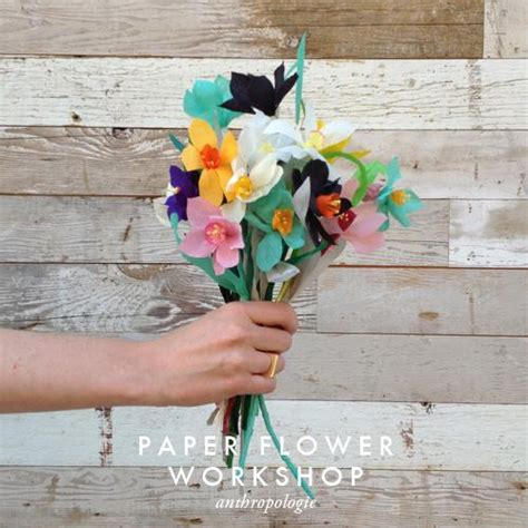 Paper Workshop - paper flower workshop at anthropologie salt lake city