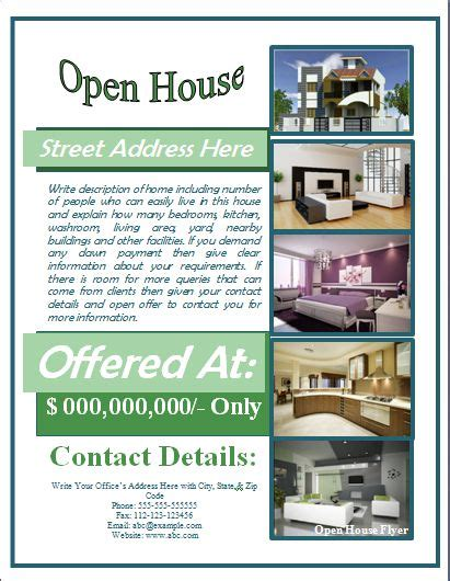 open house brochure template open house flyer template free for mortgage open house